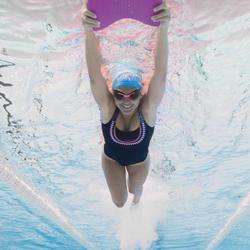 Maillot de bain de natation femme une pièce Taïs Ethn noir