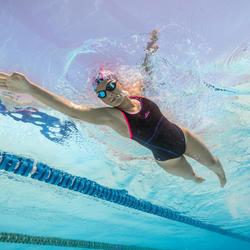 Maillot de bain de natation une pièce femme Kamiye+ noir rose