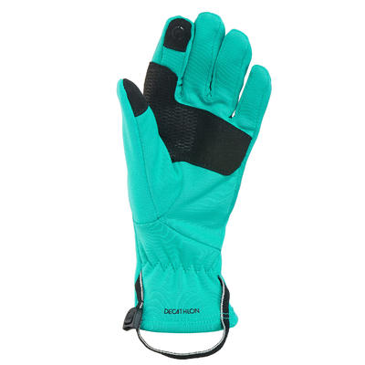 Kids' Hiking Touchscreen-Compatible Stretch Gloves SH500