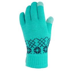 Wandelhandschoenen met touchscreen-stof voor kinderen SH100 tricot