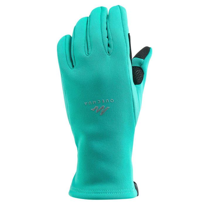 Wandelhandschoenen met touchscreen-stof voor kinderen SH500 stretch
