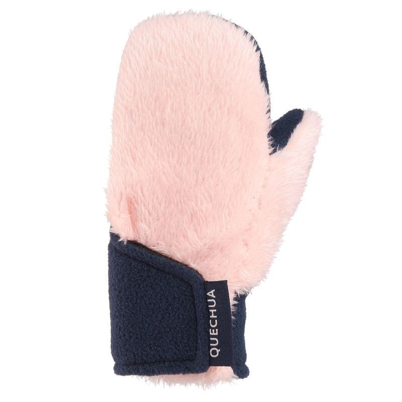 Mănuși cu 1 deget Drumeție pe zăpadă SH100 Roz Copii 18 luni - 4 ani