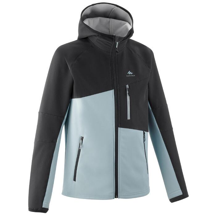 7至15歲兒童款軟殼健行外套MH500-灰色