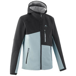 KIDS' SOFTSHELL HIKING JACKET MH500 7-15 YEARS - GREY