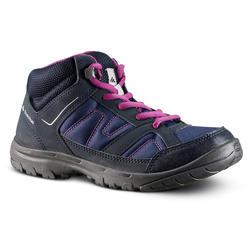 Hoge wandelschoenen voor kinderen MH100 Mid maat 35 tot 38 paars