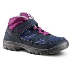 Hoge wandelschoenen voor kinderen MH100 Mid maat 24 tot 34 paars