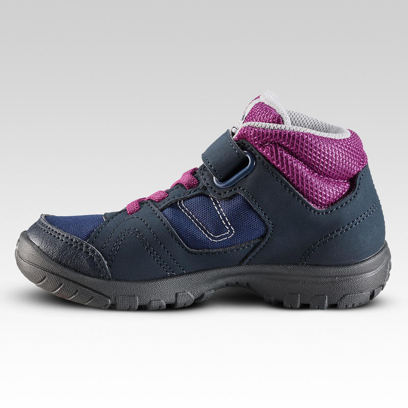 Sepatu Hiking Anak High Top MH100 MID KID 24 TO 34 - Ungu