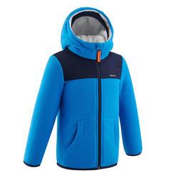 2到6歲兒童款健行滑雪刷毛外套MH500-藍色