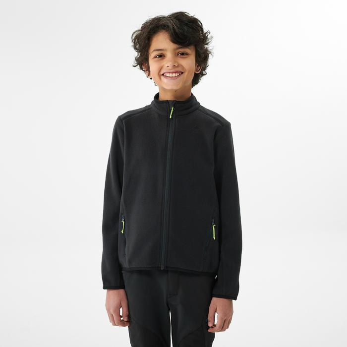 Polaire de randonnée enfant MH150 noire 7-15 ans
