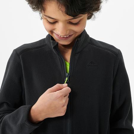 """Bērnu pārgājienu flīsa jaka """"MH150"""", 7–15 gadi, melna"""