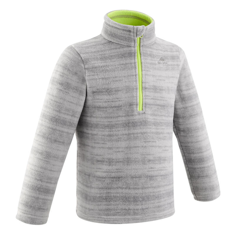 Polaire de randonnée - MH100 grise - enfant 2-6 ans