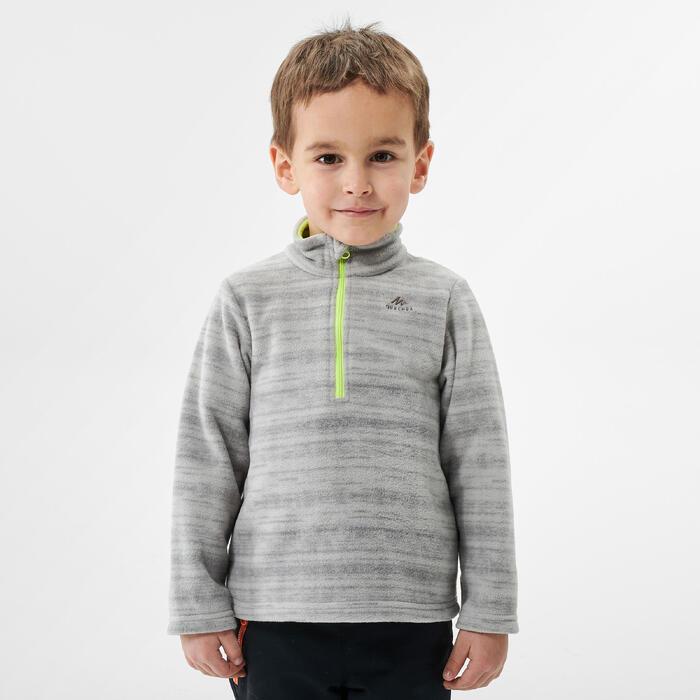 Polaire de randonnée ski - MH100 grise - enfant 2-6 ans