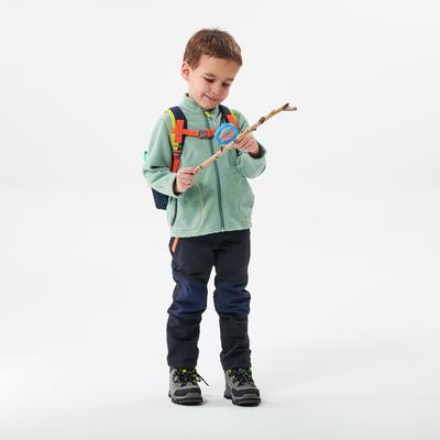 Veste polaire de randonnée et ski - MH150 verte - enfant 2-6 ans
