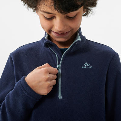 Kids' Hiking Fleece - MH100 Aged 7-15 - Blue