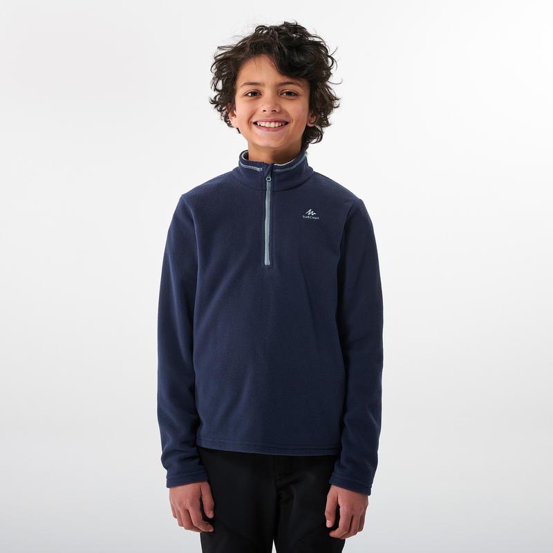 Forro polar senderismo - MH100 azul - niños 7-15 años
