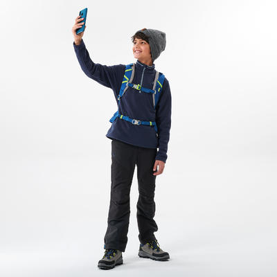 Kids' Hiking Fleece - MH100 Aged 7-15 - Blue