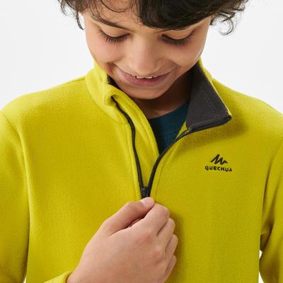 Polaire de randonnée - MH100 jaune - enfant 7-15 ans