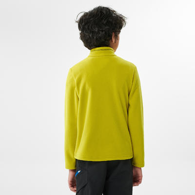 Kids' Hiking Fleece - MH100 Aged 7-15 - Yellow