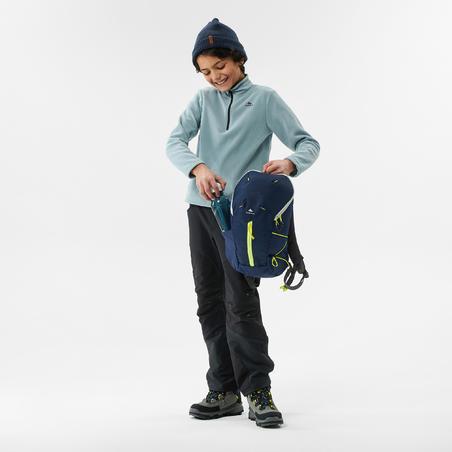 Forro polar senderismo - MH100 gris claro - niños 7-15 años