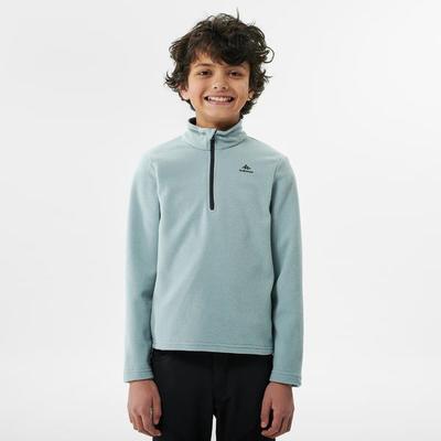 Kids' Hiking Fleece - MH100 Aged 7-15 - Light Grey