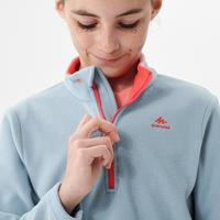 """Vaikiškas žygių fliso džemperis """"MH100"""", 7–15 m. vaikams, mėlynai pilkas"""