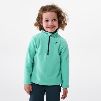 Kids' Hiking Fleece - MH100 Aged 2-6 - Turquoise