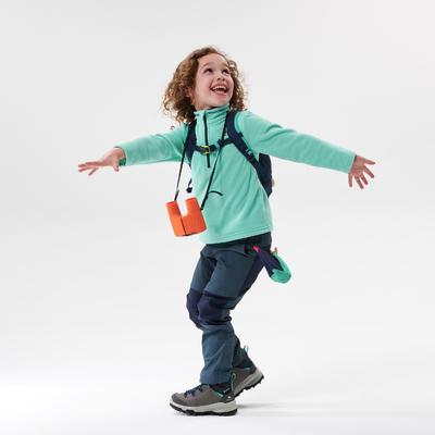 Kids' Hiking Fleece - MH100 Aged 2-6 - Turquoise