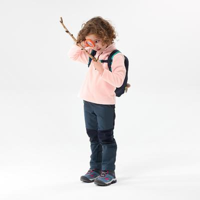 ג'קט פליז לטיולים דגם MH100 לילדים - ורוד לגילאי שנתיים - 6