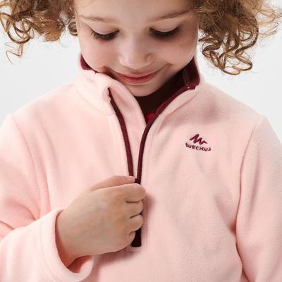 Polaire de randonnée et ski - MH100 rose - enfant 2-6 ans