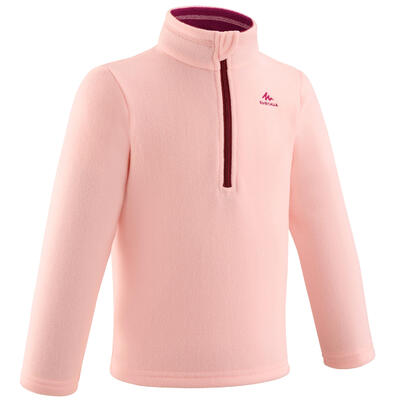 Kids' Hiking Fleece - MH100 Aged 2-6 - Pink