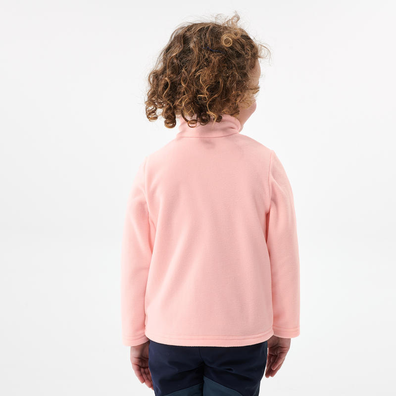 Kids' Hiking Fleece - MH100 Aged 2-6 - Pink