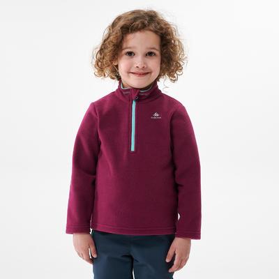 Polaire de randonnée et ski - MH100 violette - enfant 2-6 ans