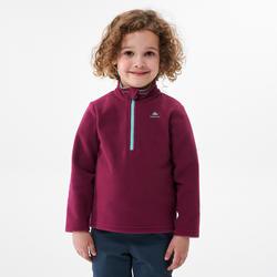 Polaire de randonnée - MH100 violette - enfant 2-6 ans
