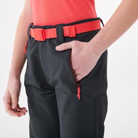 Kids' Hiking Trousers - MH500 Aged 7-15 - Dark Grey