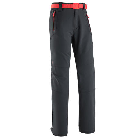 מכנסי טיולים דגם MH500 לגילאי 7 עד 15 – אפור כהה