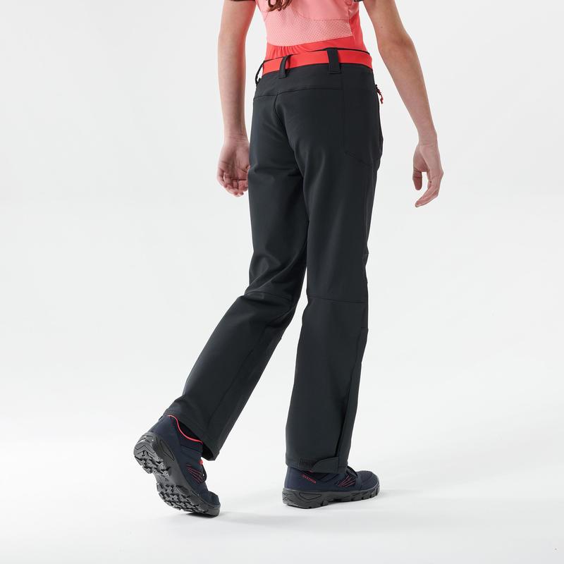 Pantalon de randonnée - MH500 gris foncé - enfant 7- 15 ans