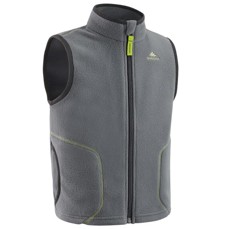 Fleece bodywarmer voor wandelen kinderen MH150 grijs 2-6 jaar