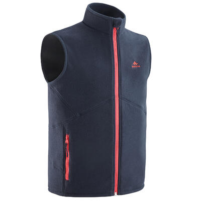 KIDS' FLEECE GILET - MH150 AGED 7-15 - NAVY CORAL