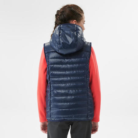 Kids' Padded Hiking Gilet - MH500 Aged 7-15 - NAVY