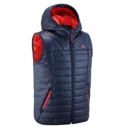 7到15歲兒童款健行鋪棉背心MH500-軍藍色