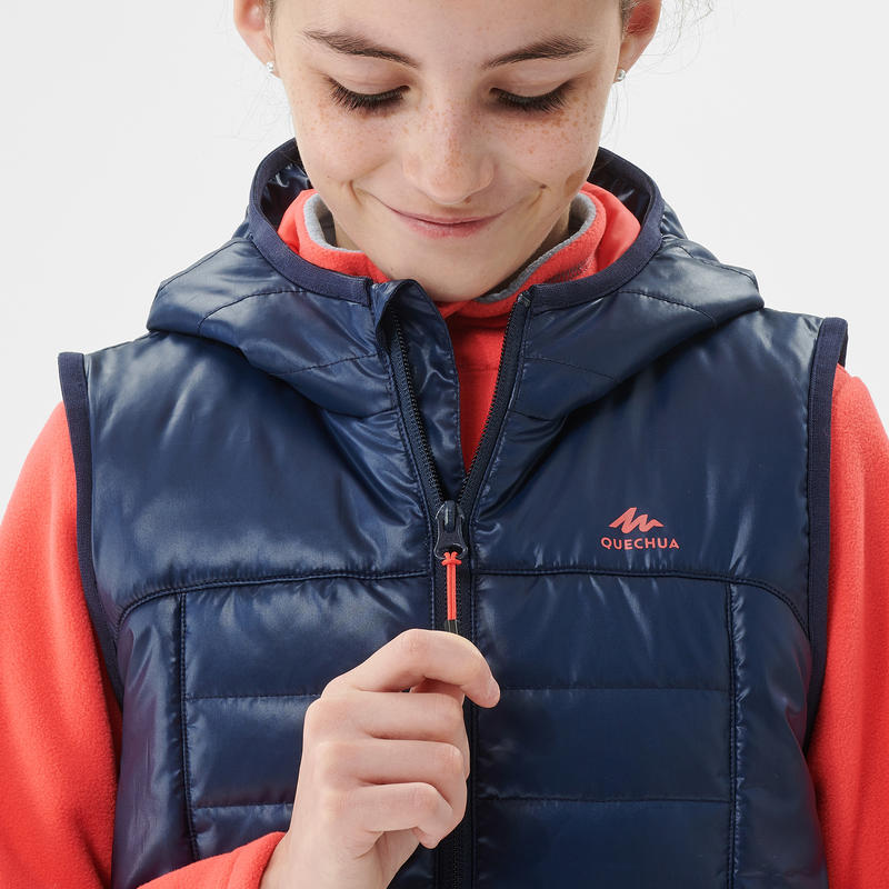 Gilet ouate de randonnée - MH500 NAVY - enfant 7- 15 ans