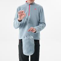 Kids' Hiking Padded Gilet MH500 7-15 Years - Blue Grey