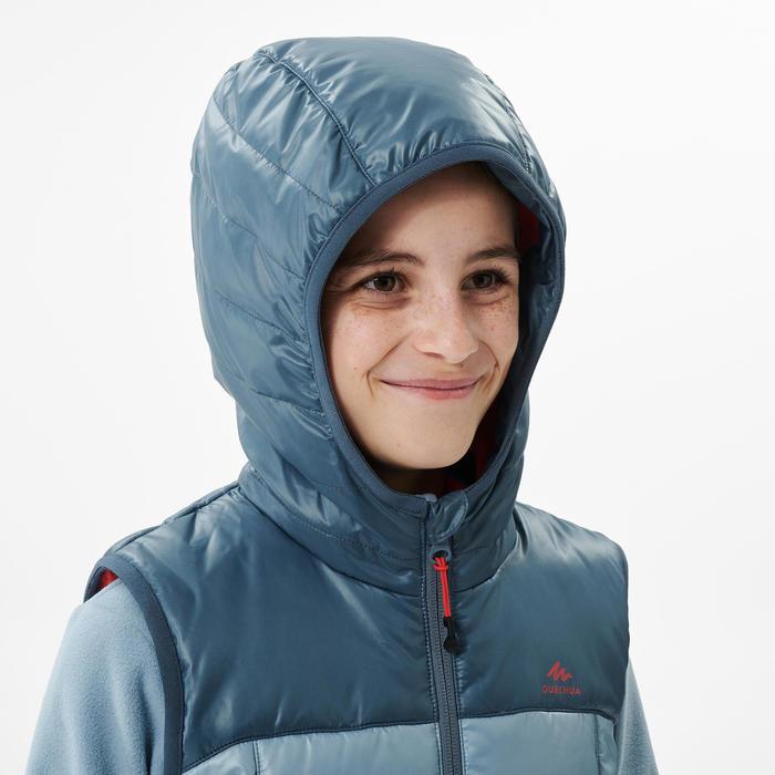 Gilet ouate de randonnée - MH500 bleu gris - enfant 7- 15 ans