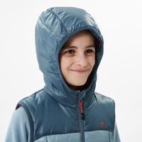 """Vaikiška pašiltinta žygių liemenė """"MH500"""", 7–15 m. vaikams, mėlynai pilka"""