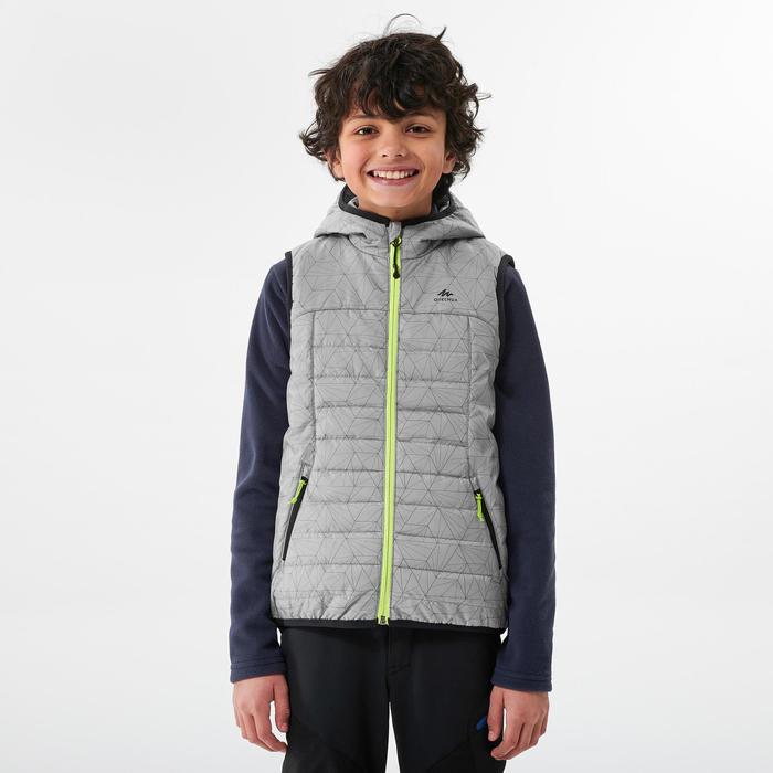 7至15歲兒童款鋪棉健行背心MH500-灰色