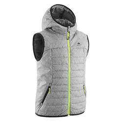 Kids' Padded Hiking Gilet MH500 7-15 Years - Grey