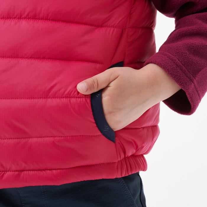 Gilet doudoune de randonnée - MH500 rose - enfant 2 - 6 ans