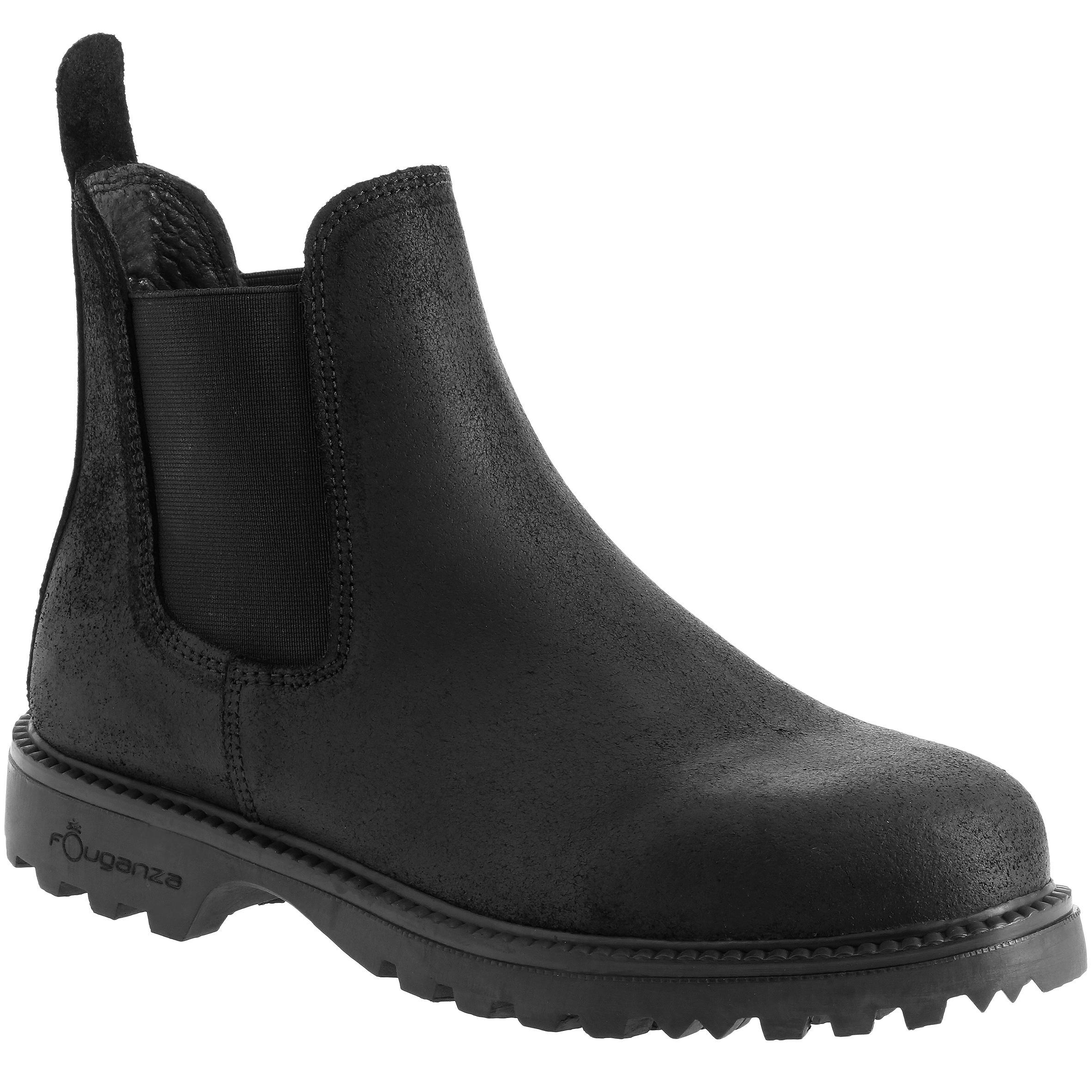 Boots équitation adulte sentier noir fouganza