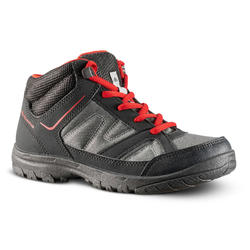 NH100 Kids' Walking Boots - Grey/Black