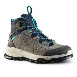 Chaussures haute de randonnée montagne enfant MH500 imperméable Gris-bleu 28-39